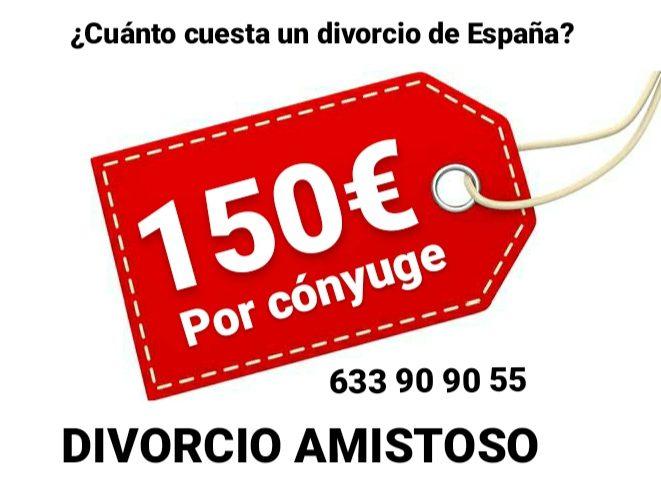 Precio valor de cuanto cuesta un divorcio express amistoso o separación matrimonial barata
